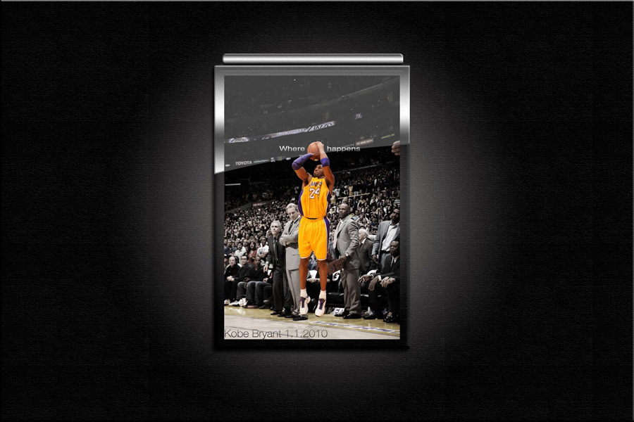 Kobe Bryant Game Winner 1.1.2010. Wallpaper