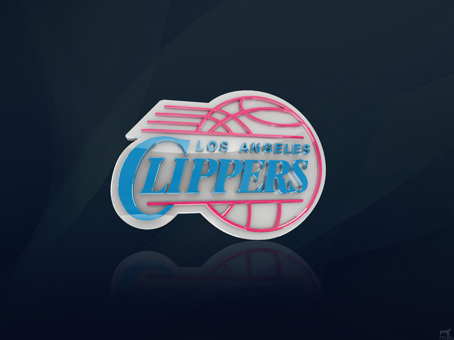 Los Angeles Clippers 3D Logo Wallpaper