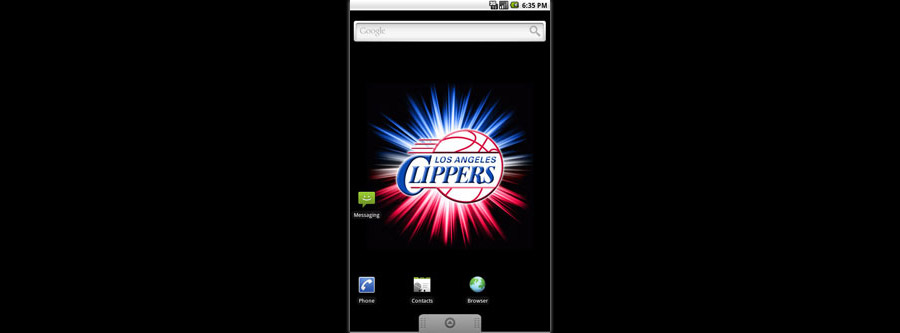 LA Clippers Logo Live Android Wallpaper