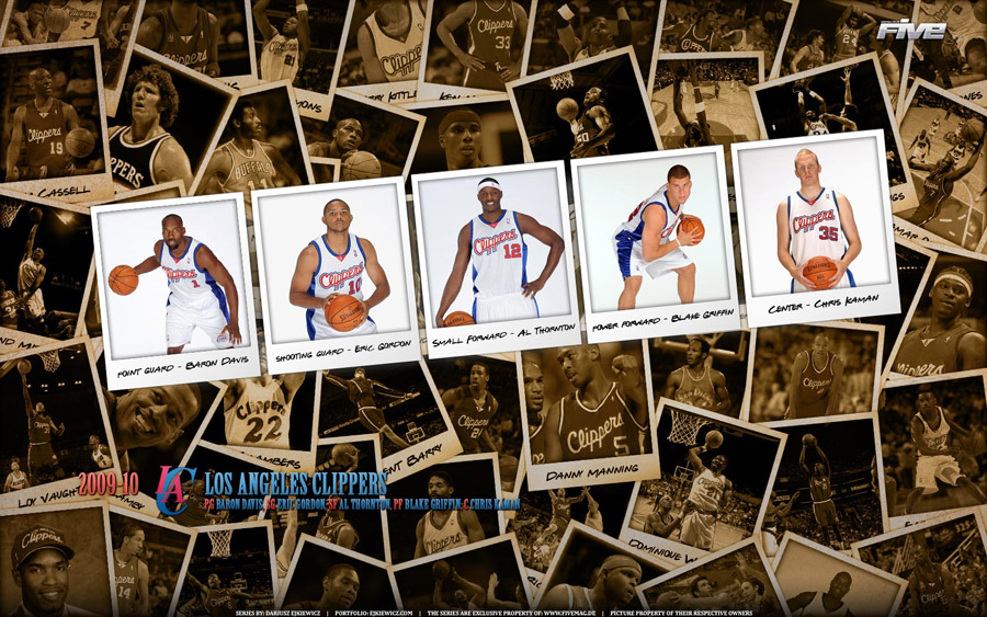 Los Angeles Clippers Polaroid 2010 Widescreen Wallpaper