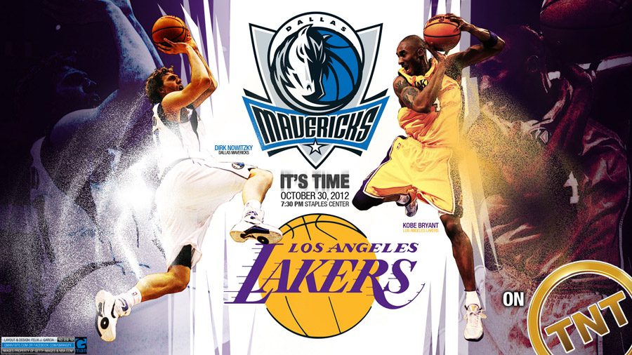 Lakers - Mavs 2012 NBA 1920x1080 Wallpaper