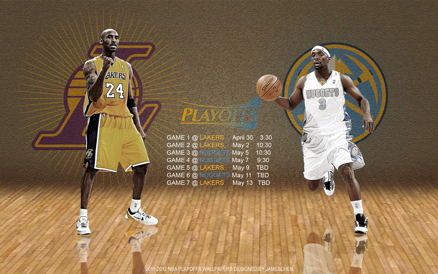 Lakers - Nuggets 2012 NBA Playoffs 2560x1600 Wallpaper
