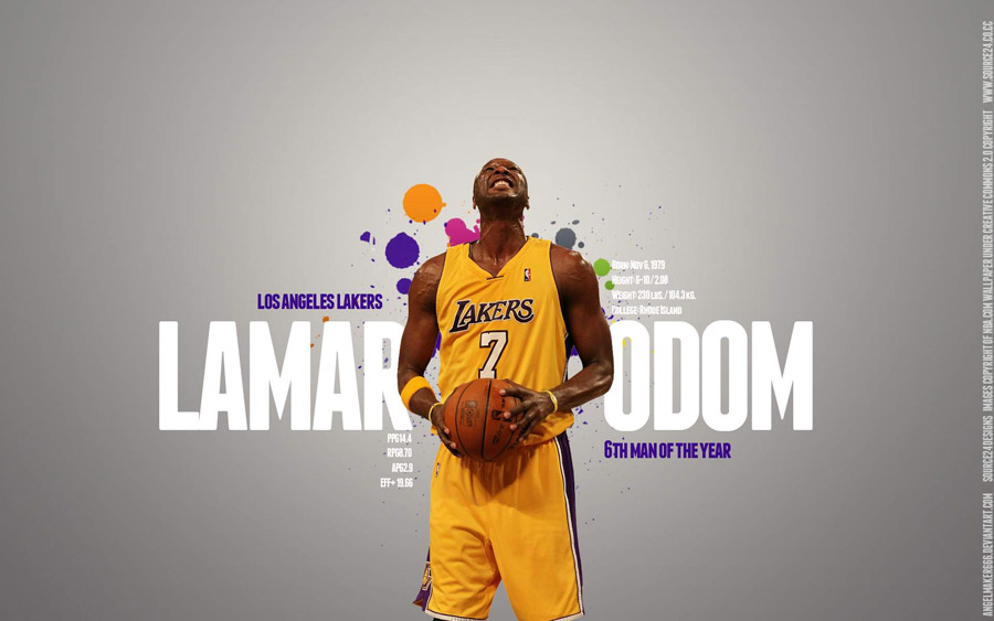 Lamar Odom 2011 6th Man Award Candidate Widescreen Wallpaper