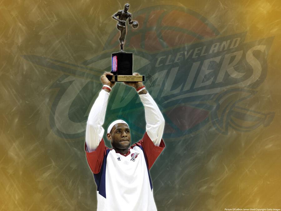 LeBron James 2009 MVP Award Wallpaper