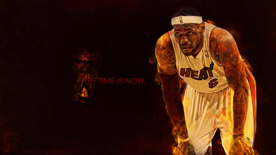 LeBron James 2012 NBA Finals 2560x1400 Wallpaper