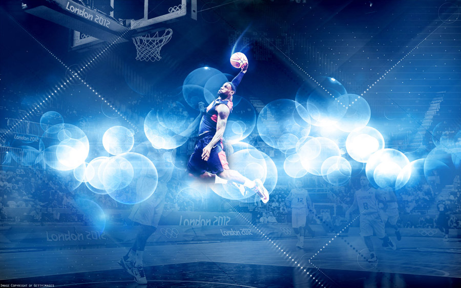 LeBron James 2012 Olympics Dunk vs Tunisia Wallpaper