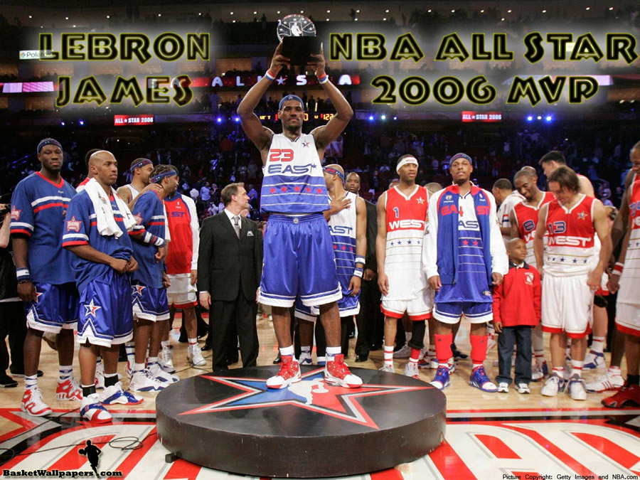 LeBron James All Star 2006 MVP Wallpaper