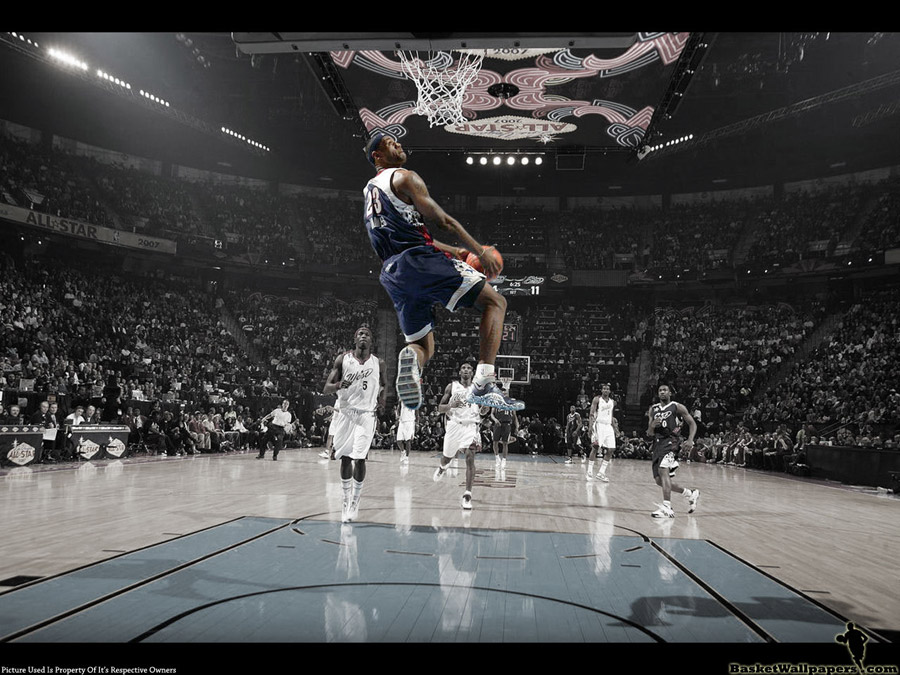 LeBron James All-Star 2007 Dunk Wallpaper