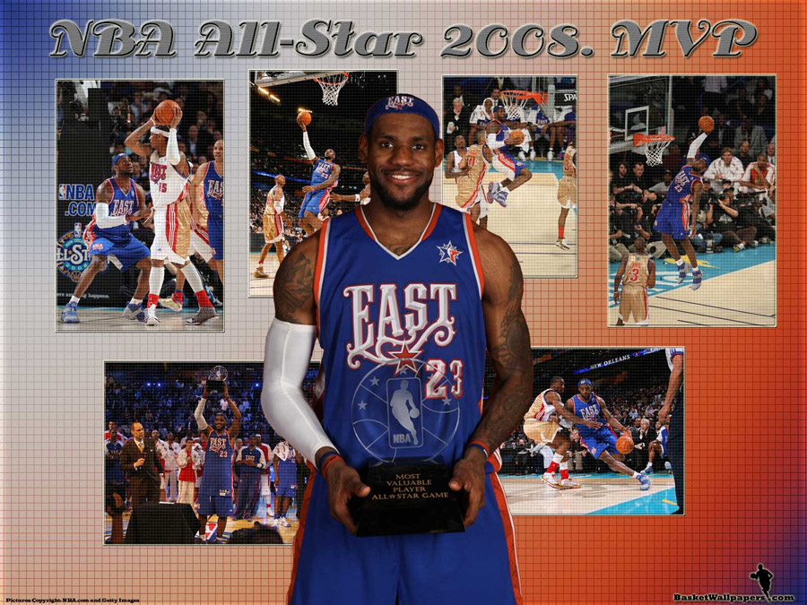 LeBron James All Star 2008 MVP Wallpaper