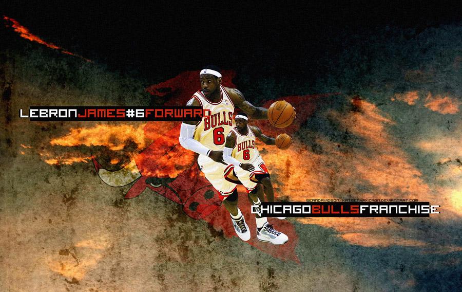 LeBron James Bulls Jersey Widescreen Wallpaper