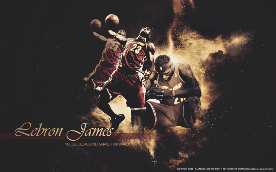 LeBron James Thinking Dunk Widescreen Wallpaper