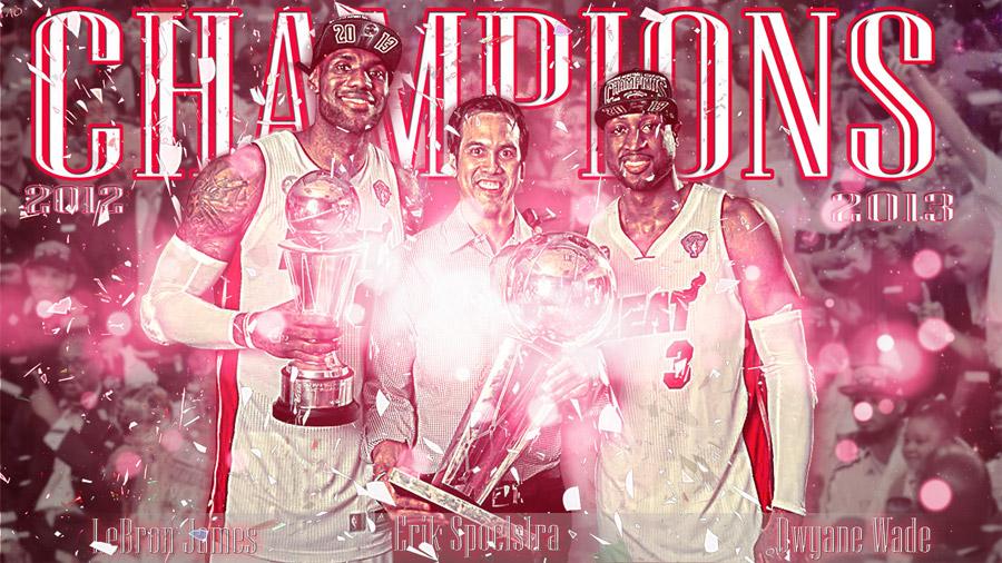 LeBron Spo Wade 2013 NBA Champions 1920x1080 Wallpaper