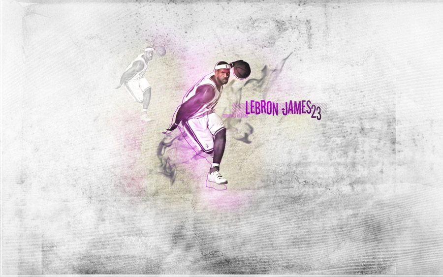 LeBron James Dribbling Widescreen Wallpaper