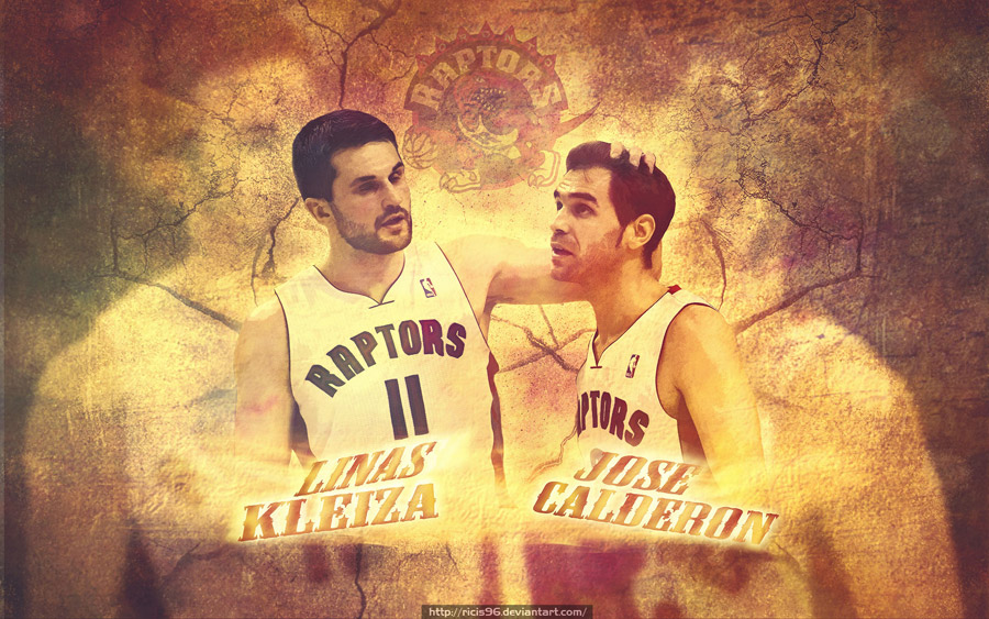 Linas Kleiza and Jose Calderon Raptors 1680x1050 Wallpaper