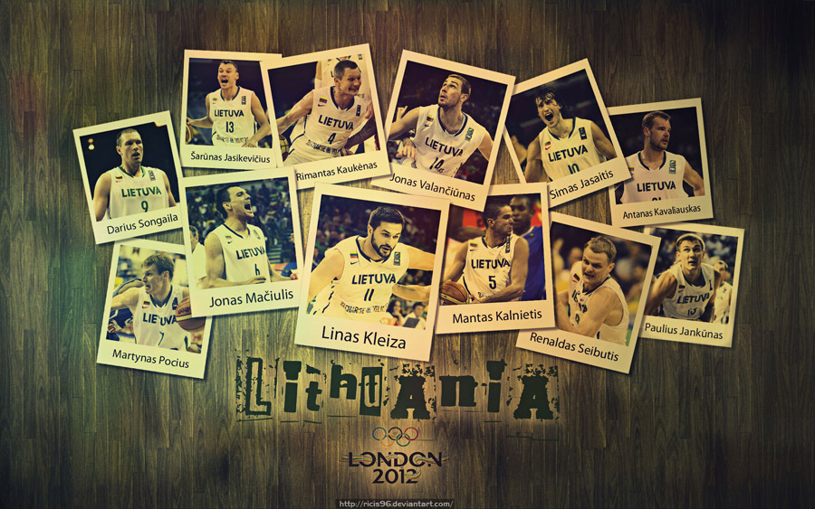 Lithuania Basketball Team London 2012 1920x1200 Wallpaper