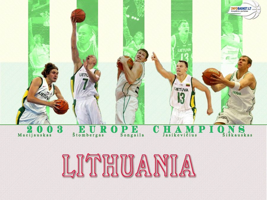 Lithuania Eurobasket 2003 Champions Wallpaper