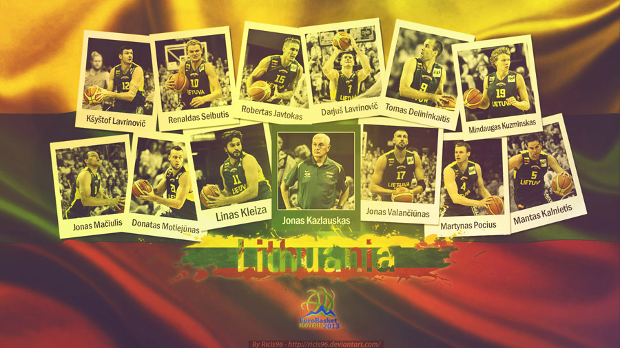 Lithuania Team Eurobasket 2013 1920x1080 Wallpaper