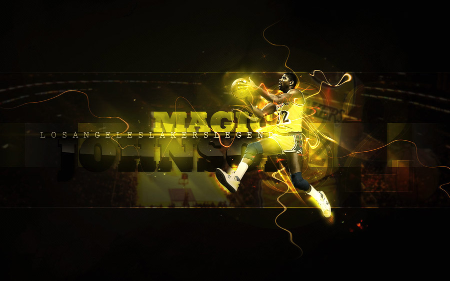 Magic Johnson Lakers 1440x900 Wallpaper