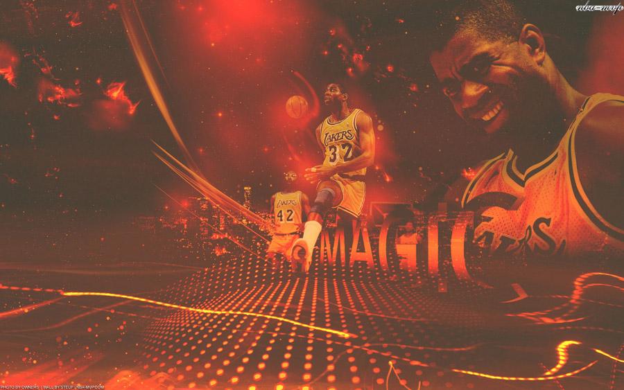 Magic Johnson Lakers 1680x1050 Wallpaper