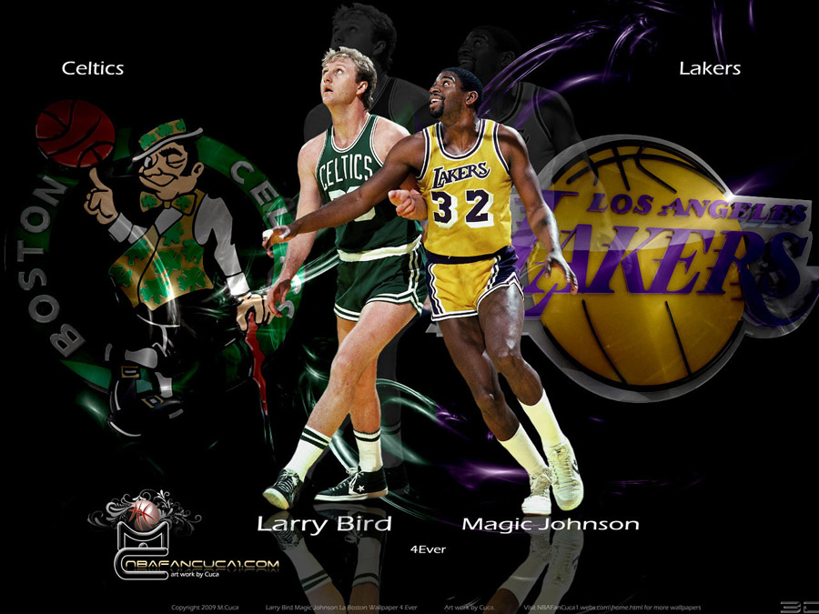 Magic Johnson and Larry Bird Wallpaper