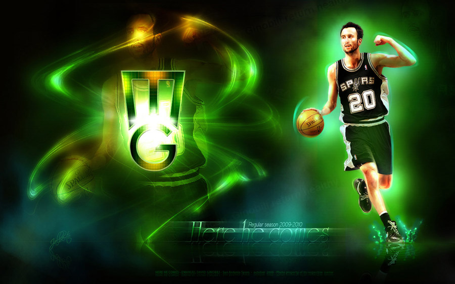 Emanuel Ginobili 2010 Widescreen Wallpaper