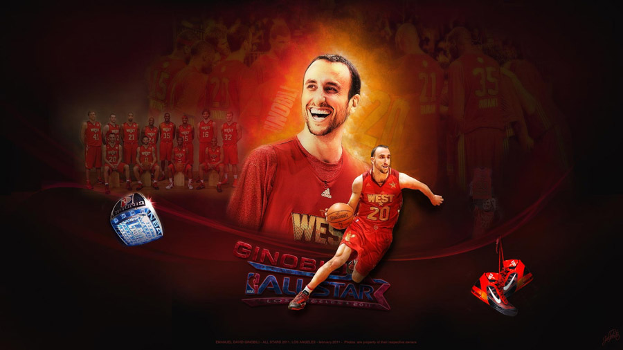 Manu Ginobili 2011 All-Star Widescreen Wallpaper