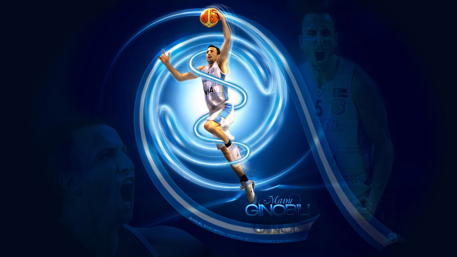 Manu Ginobili Argentina NT 2011 Widescreen Wallpaper