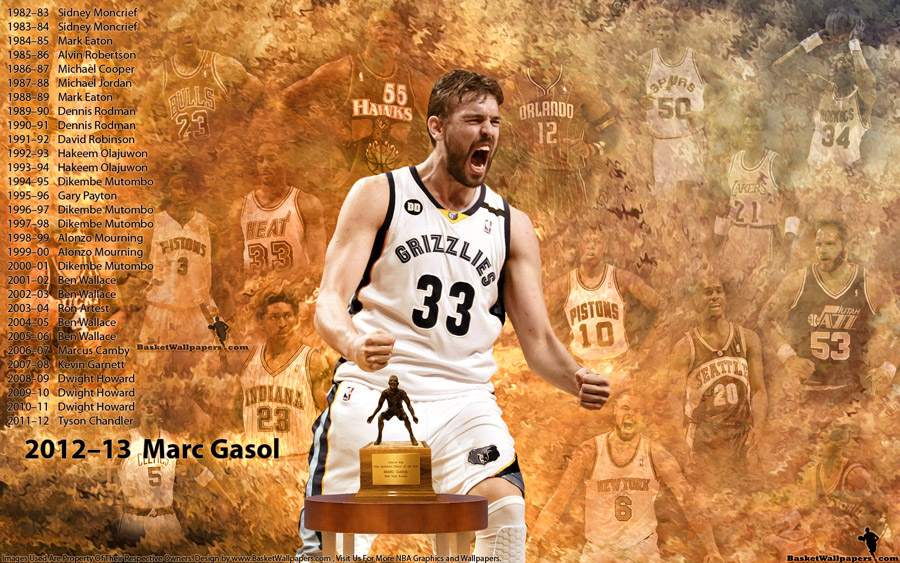 Marc Gasol 2013 Defensive Player Of The Year 1920x1200 Wallpaper