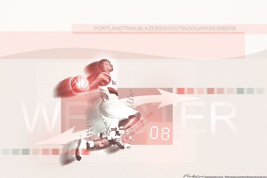 Martell Webster Blazers Widescreen Wallpaper