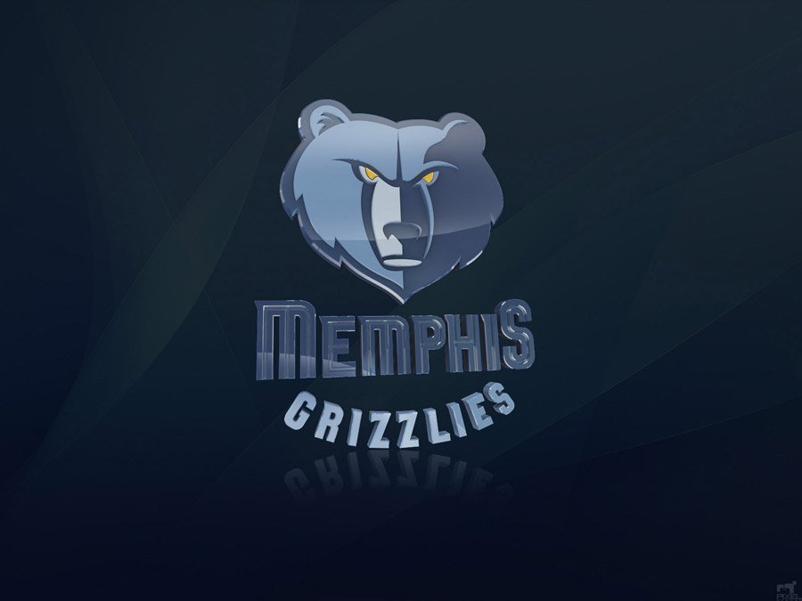 Memphis Grizzlies 3D Logo Wallpaper