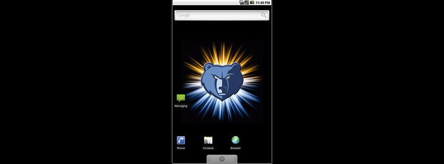 Memphis Grizzlies Logo Live Android Wallpaper