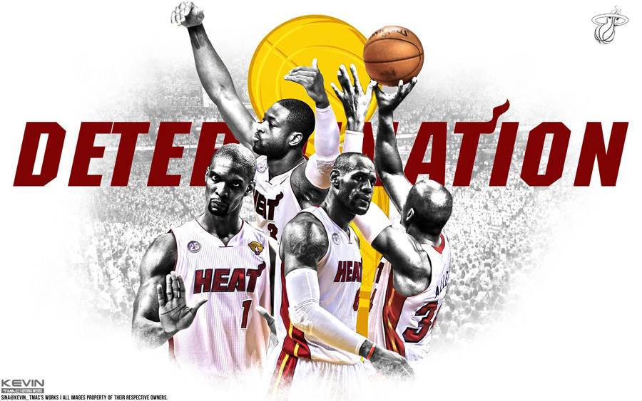 Miami Heat 2013 NBA Finals Game 6 Determination 1920x1200 Wallpaper