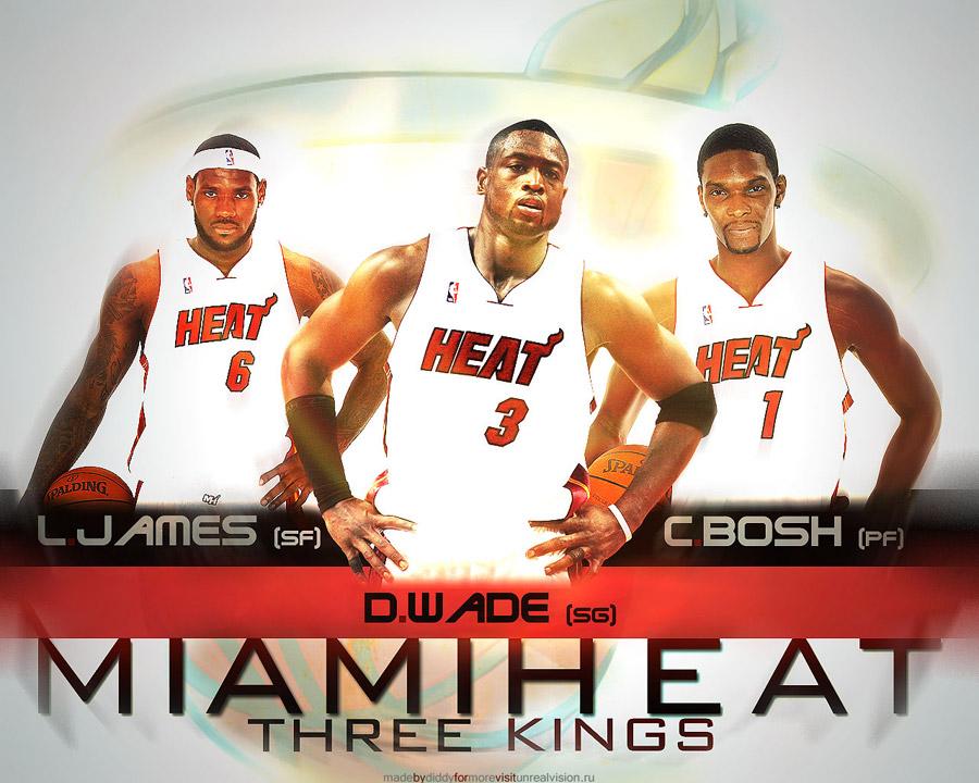 Miami Heat 3 Kings Wallpaper