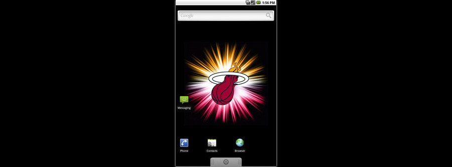 Miami Heat Logo Live Android Wallpaper