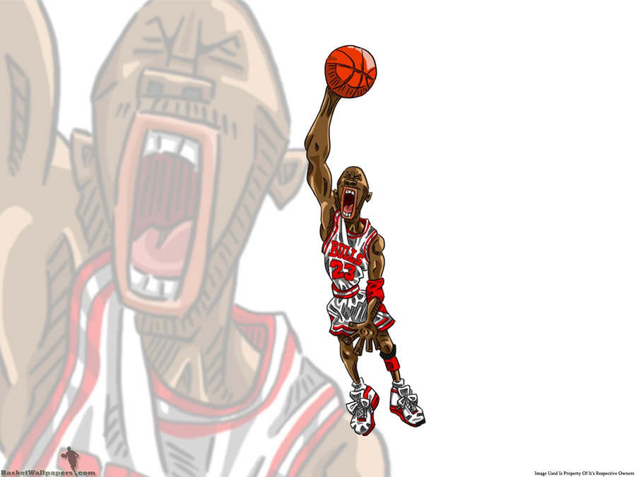 Michael Jordan Drawn Dunk Wallpaper