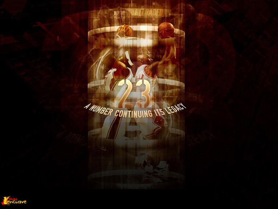 Michael Jordan - Lebron James 23 Legacy Wallpaper
