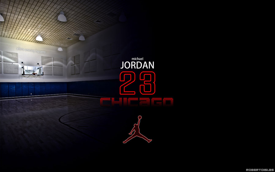 Michael Jordan Number 23 Widescreen Wallpaper