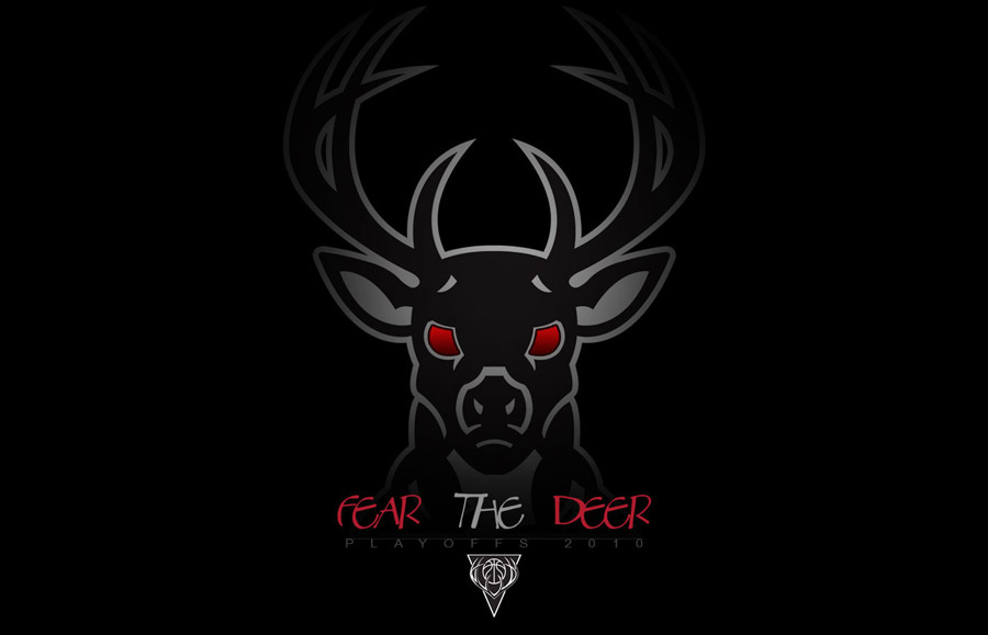 Milwaukee Bucks Fear The Deer Widescreen Wallpaper