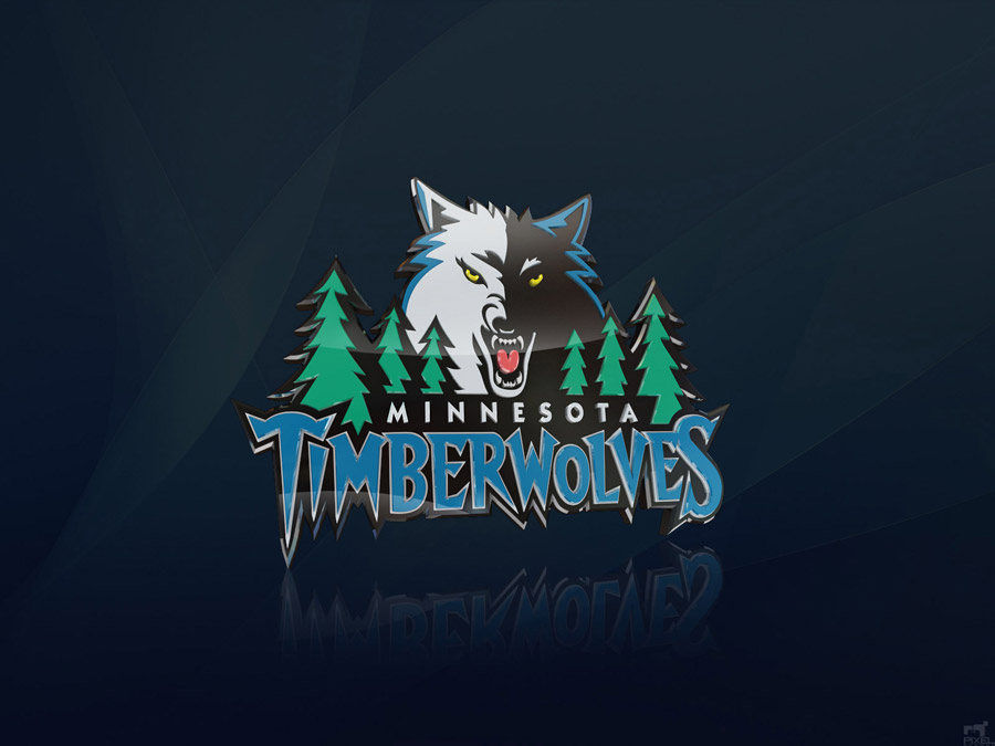 Minnesota Timberwolves 3D Logo Wallpaper