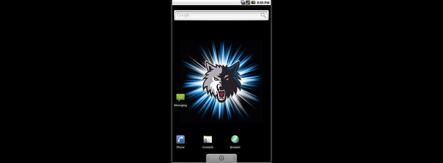 Minnesota Timberwolves Logo Live Android Wallpaper
