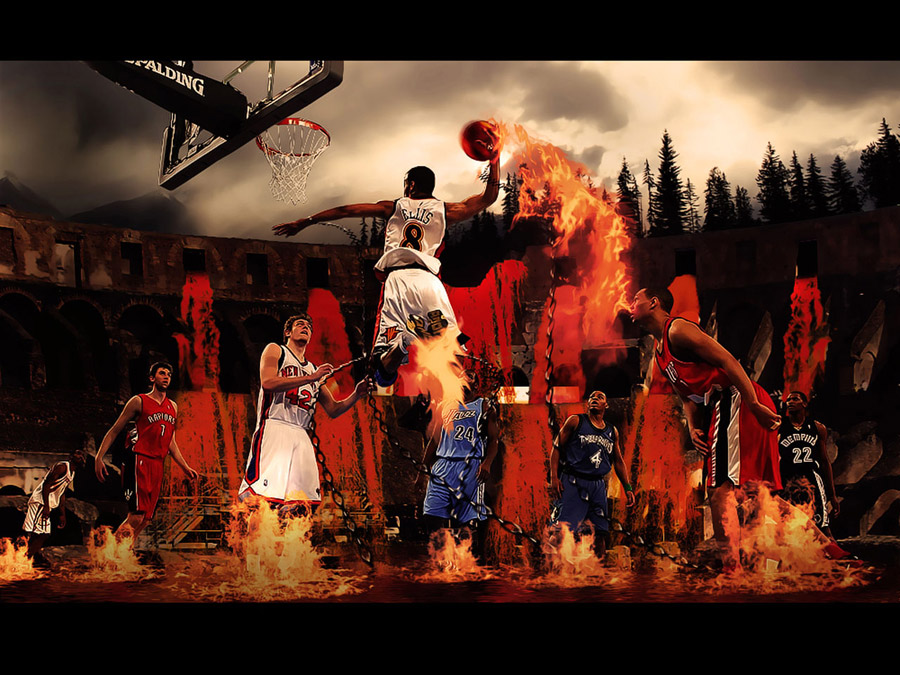 Monta Ellis Flame Dunk Wallpaper