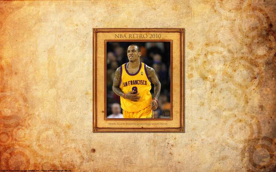 Monta Ellis Warriors Retro Widescreen Wallpaper
