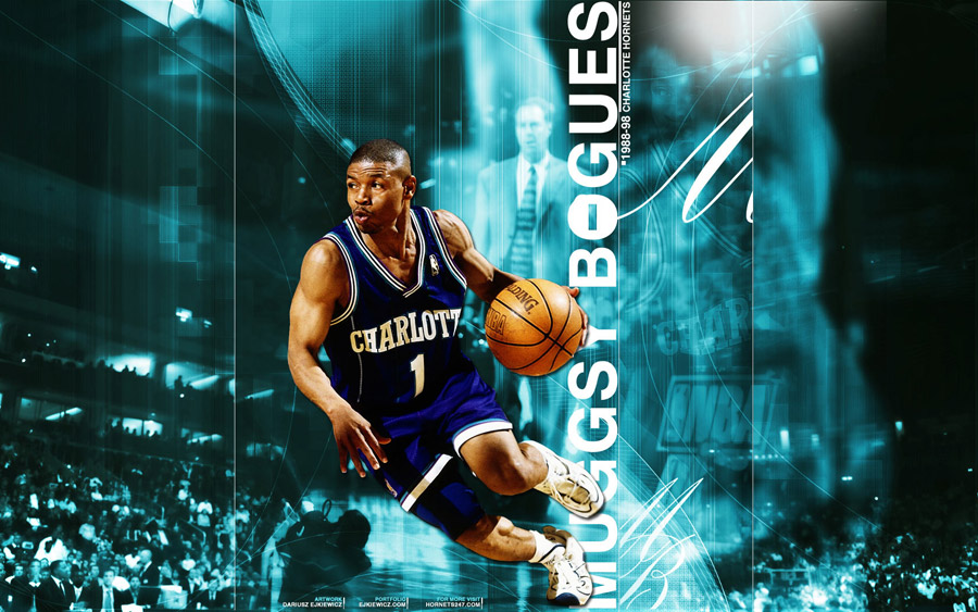 Muggsy Bogues Hornets Widescreen Wallpaper