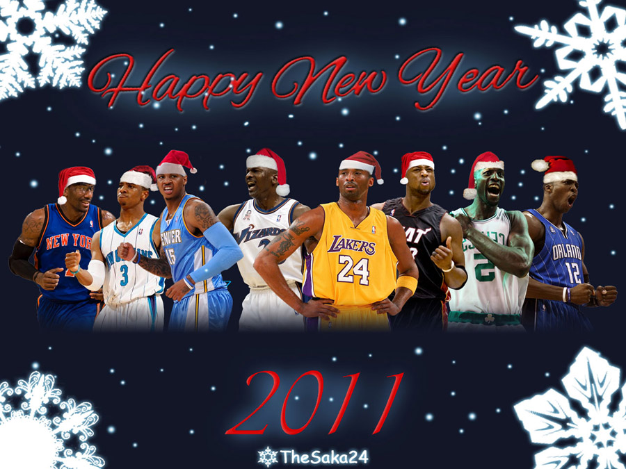 NBA 2011 Happy New Year Wallpaper