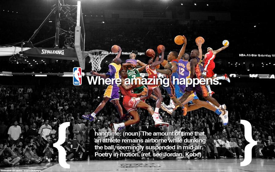 NBA Slam Dunk Contest History Widescreen Wallpaper