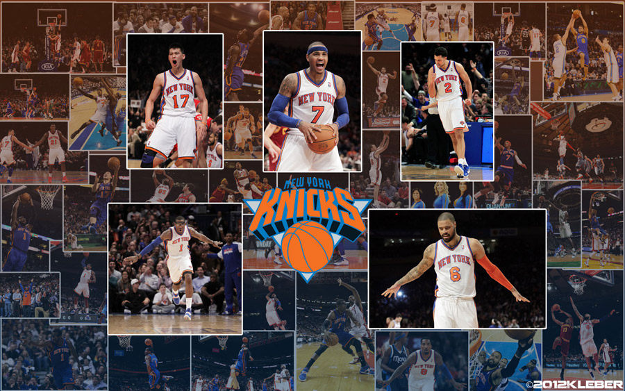NY Knicks 2012 Starting 5 1440x900 Wallpaper