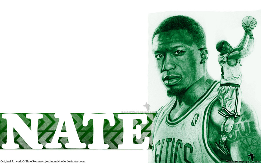Nate Robinson Drawn Widescreen Wallpaper
