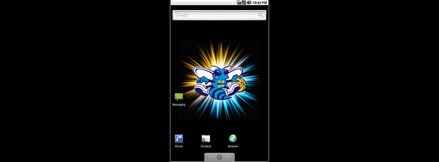 New Orleans Hornets Logo Live Android Wallpaper