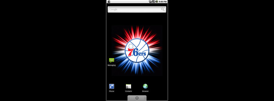 Philadelphia 76ers Logo Live Android Wallpaper