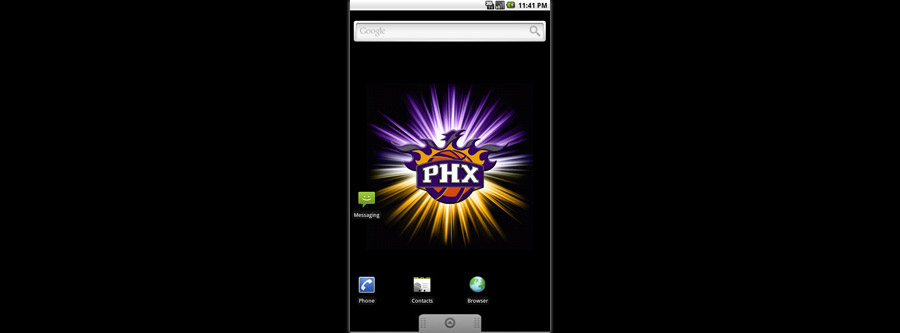 Phoenix Suns Logo Live Android Wallpaper